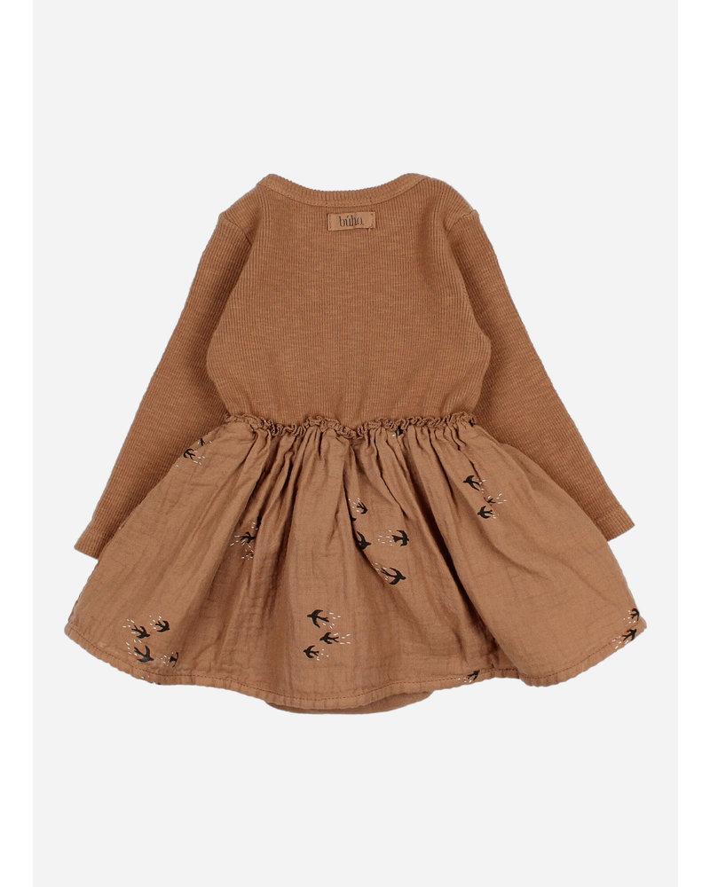 Buho baby combo dress muscade