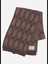 Wander & Wonder argyle scarf brown