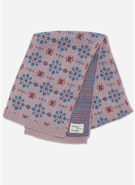 Wander & Wonder floral scarf dusty pink