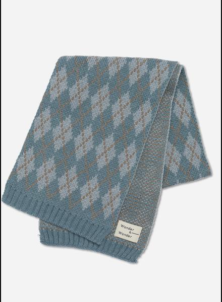 Wander & Wonder argyle scarf sage