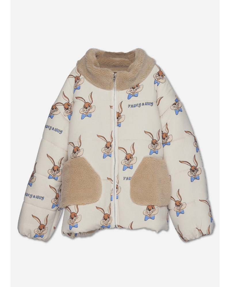 Wander & Wonder puffer jacket ecru bunny
