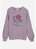 Wander & Wonder rose sweatshirt lilac