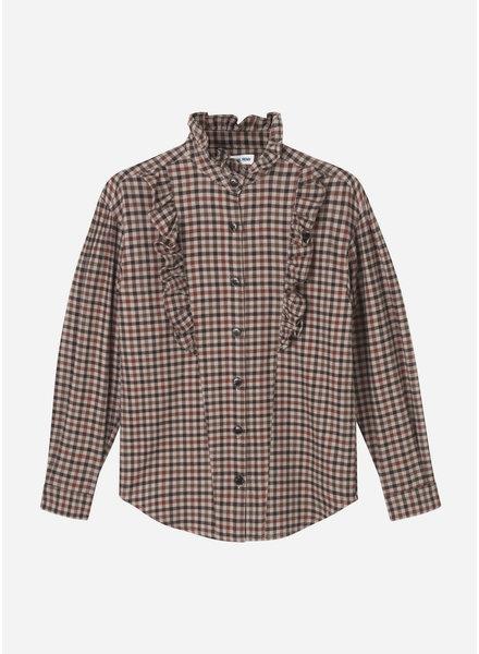 Designer Remix Girls alfie shirt brown check