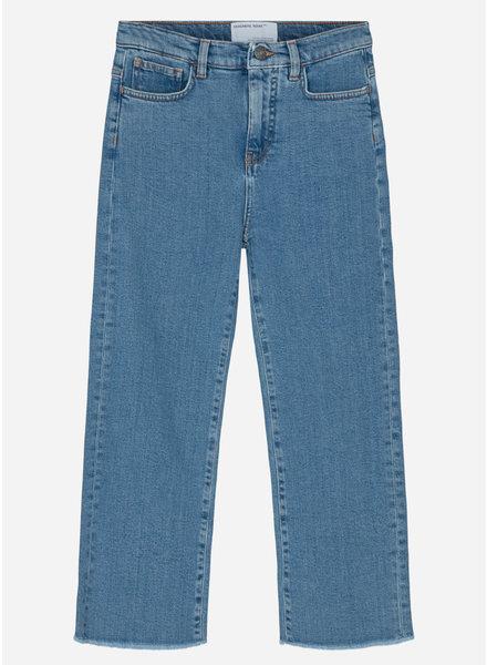 Designer Remix Girls bellis blue straight jeans medium denim