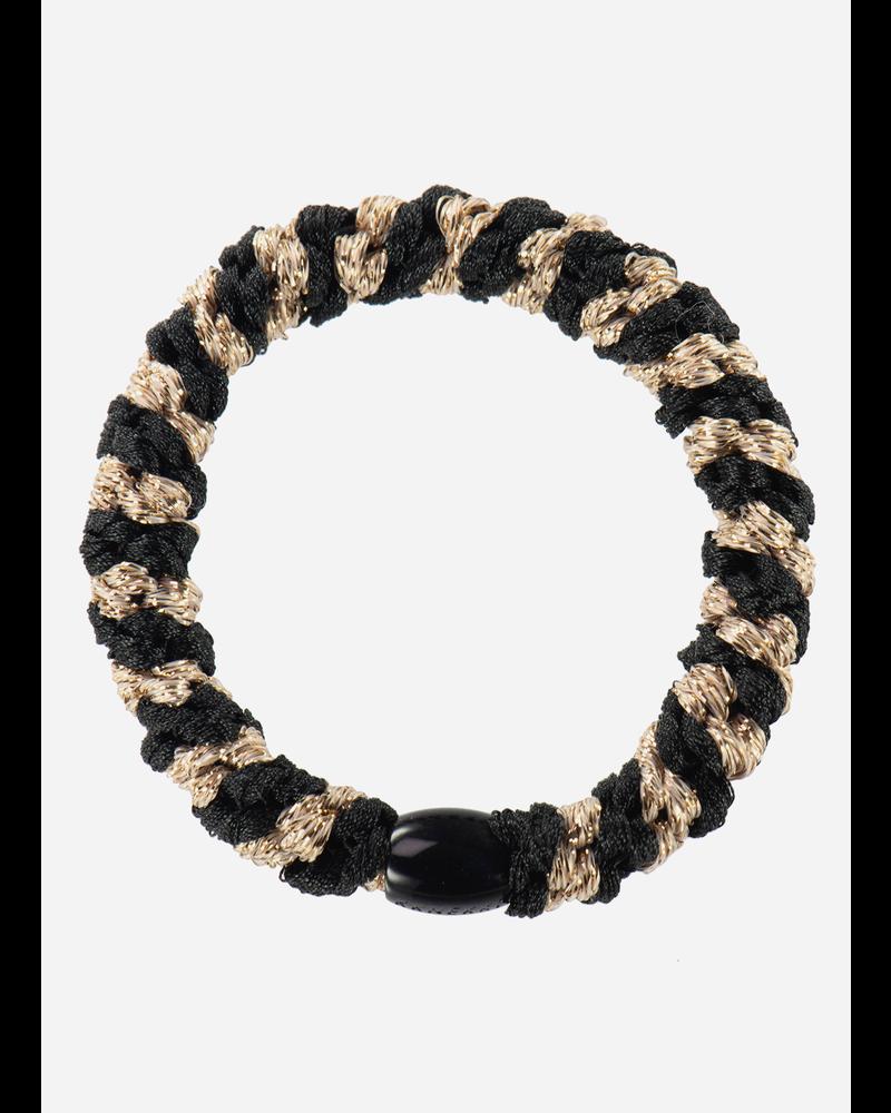 Kknekki by Bon Dep black beige glitter stripe