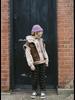 Wander & Wonder drawstring pants charcoal plaid