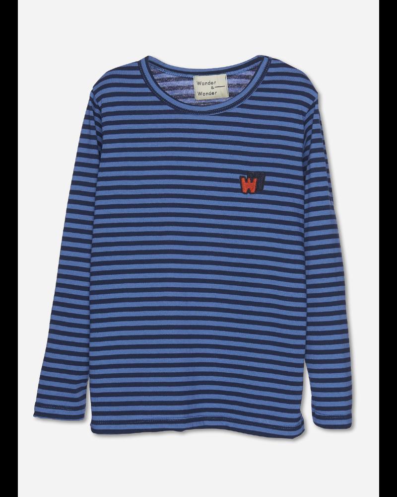 Wander & Wonder w&w tee mist stripe