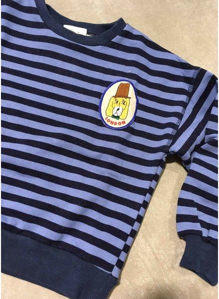 Wander & Wonder stripe sweatshirt sky stripe