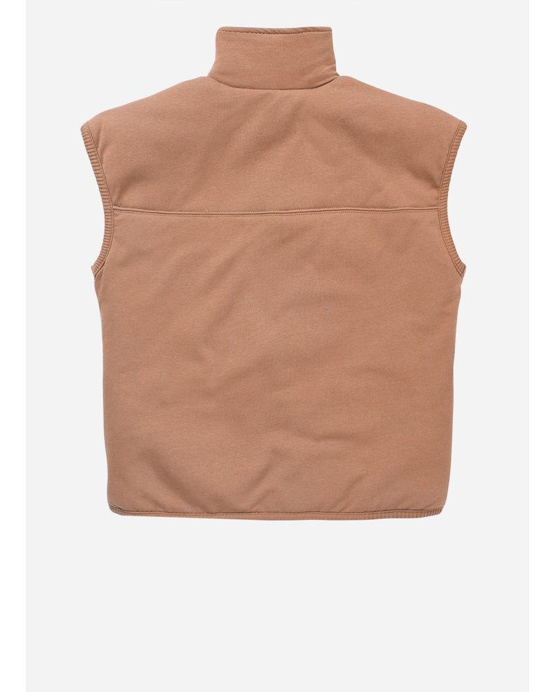 Mingo padded vest chocolate milk