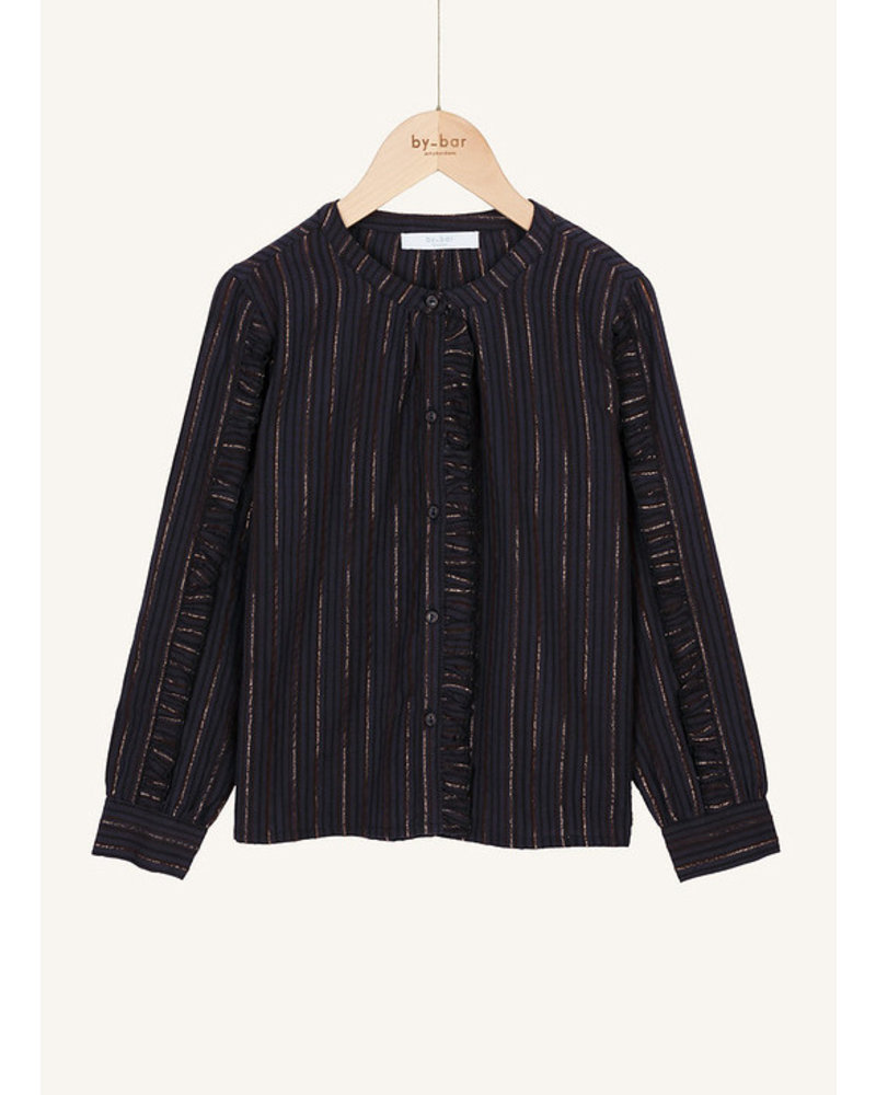 By Bar roan stripe blouse midnight