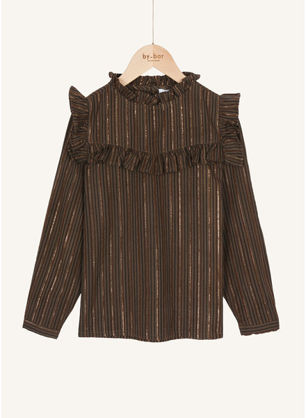 By Bar valerie stripe blouse shadow