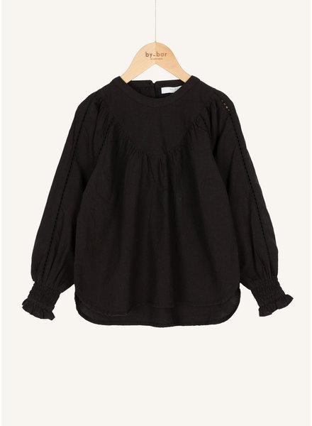 By Bar bobbie poplin blouse jet black