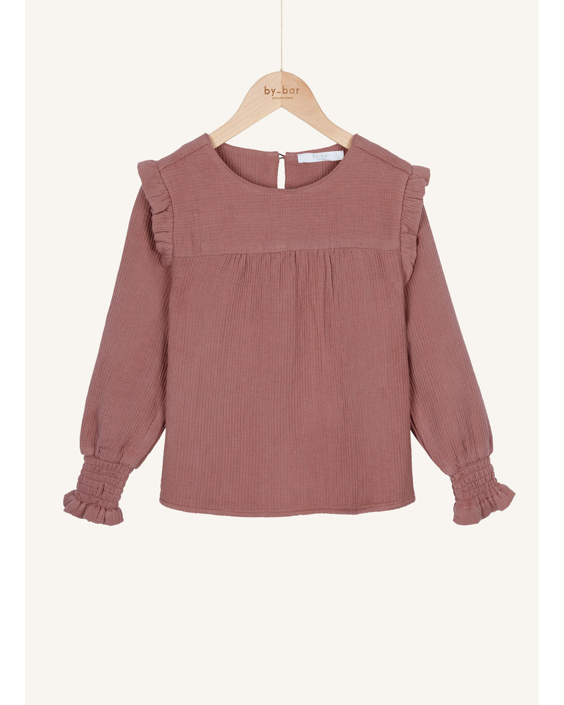 By Bar mila gauze blouse dusty lilac