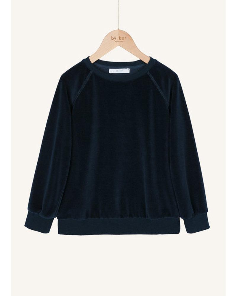 By Bar teddy velvet sweater dark indigo blue