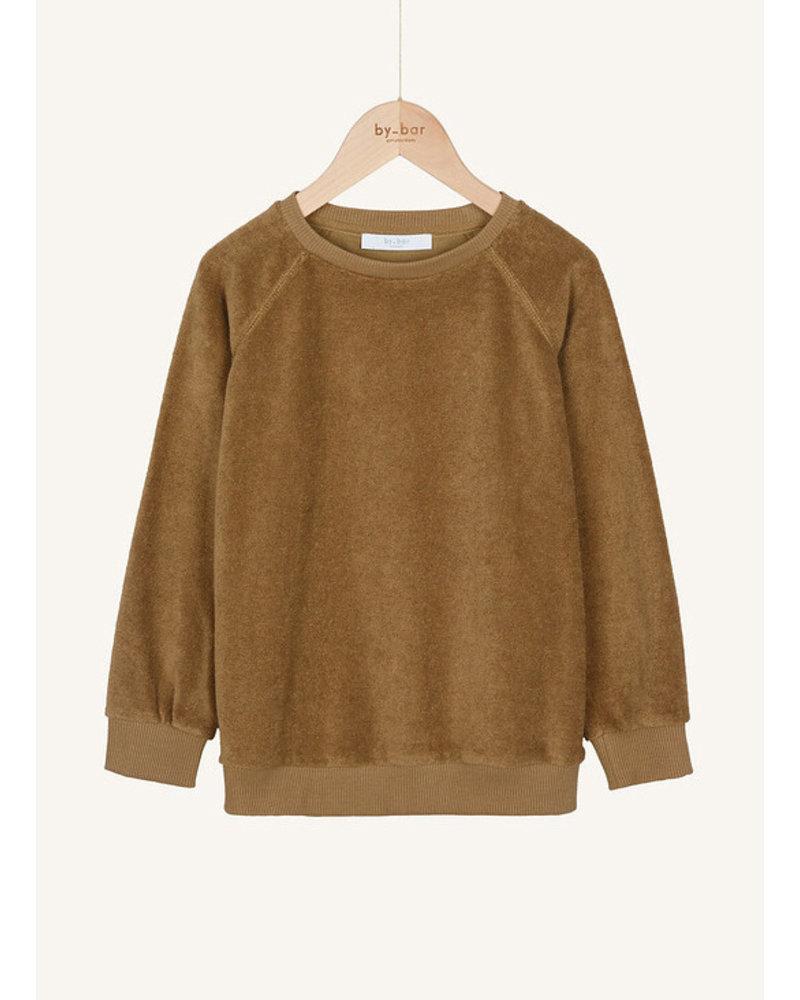 By Bar teddy slub sweater dry khaki