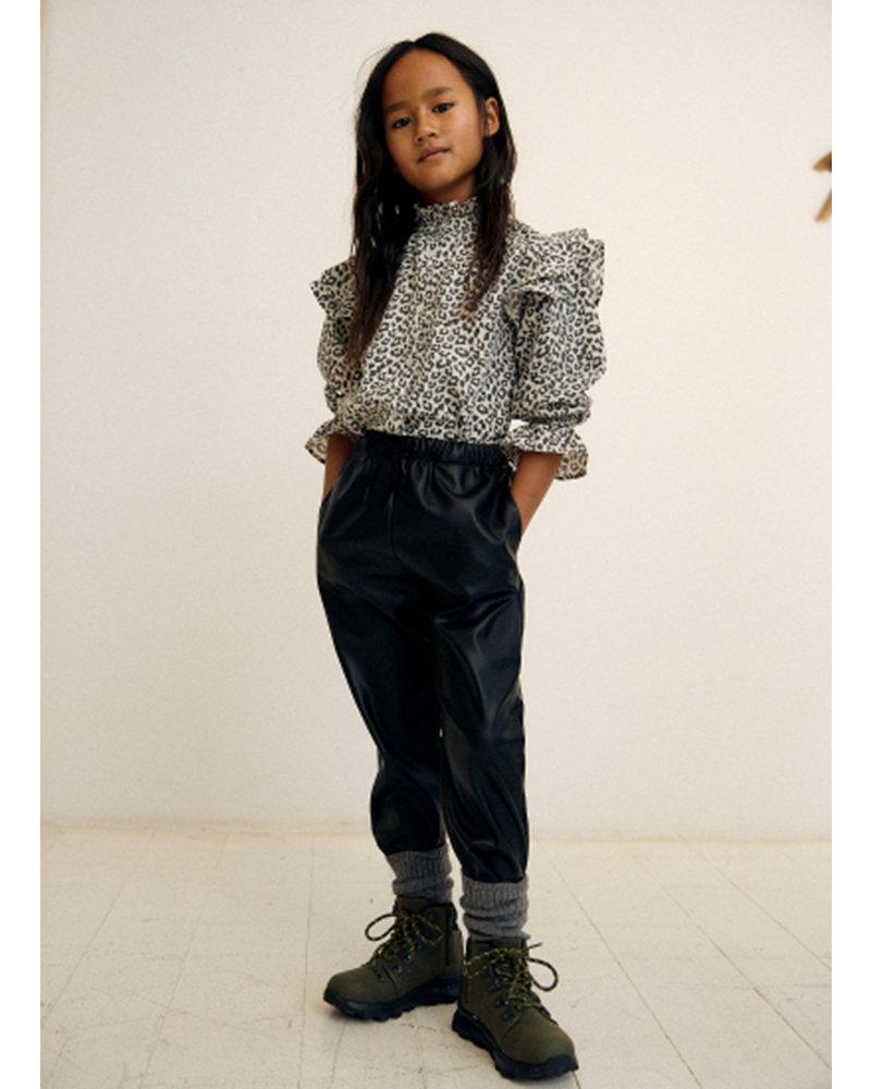 The New Society gannin blouse leopard