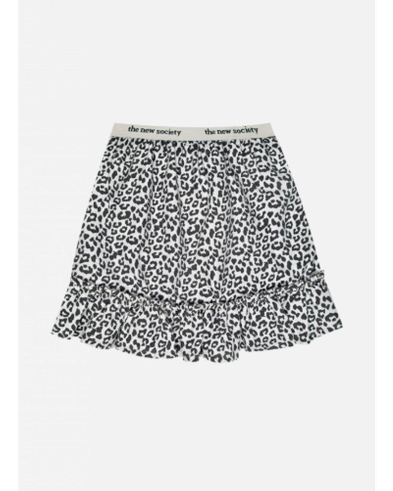 The New Society gannin skirt leopard