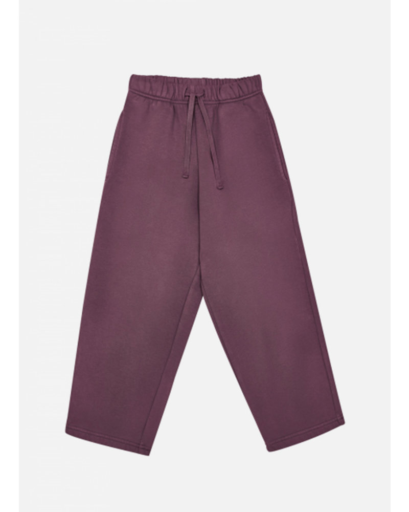 The New Society hugo pant terry brushed plum