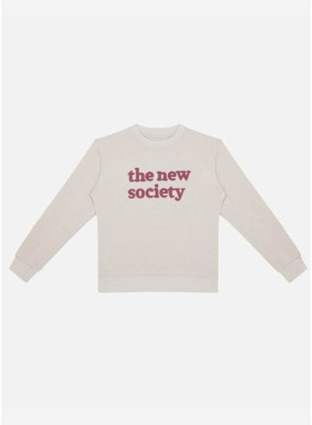 The New Society signature sweater natural melange