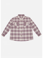 The New Society alex shirt red check