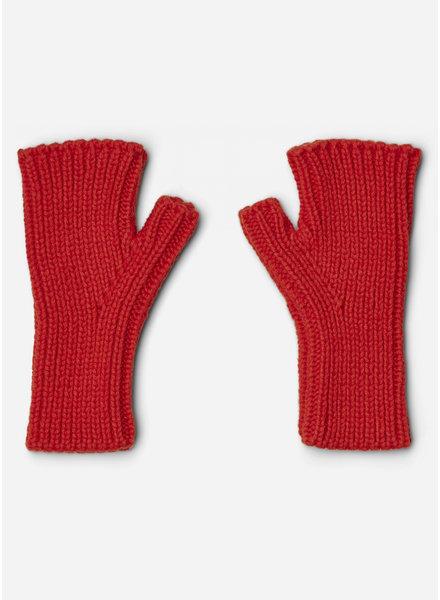 Liewood finn fingerless mittens apple red