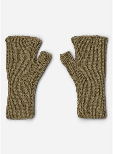 Liewood finn fingerless mittens khaki