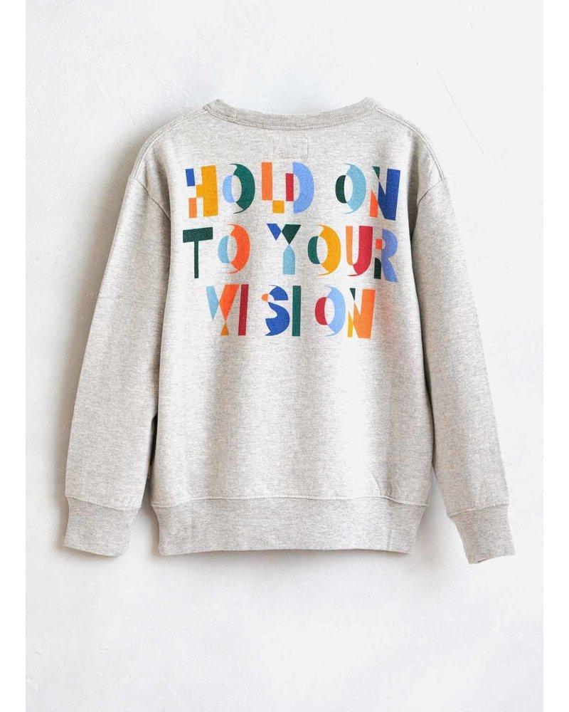 Bellerose binch sweatshirt h. grey
