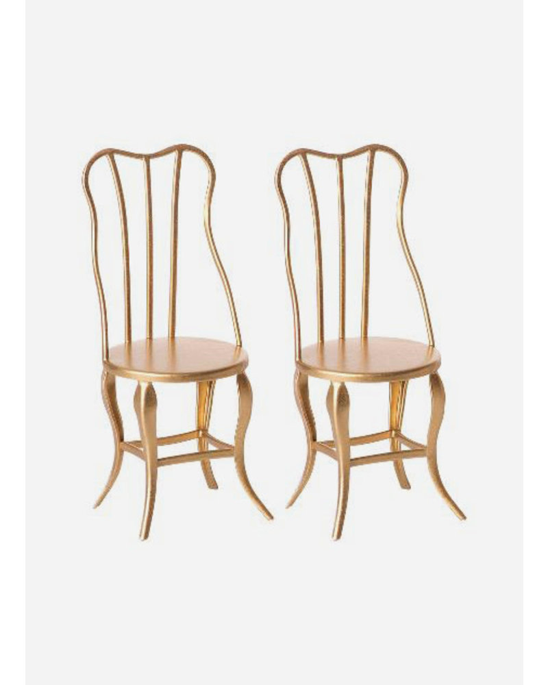 Maileg vintage chairs micro gold