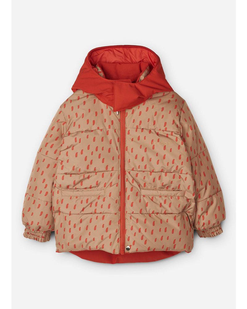 Liewood paloma puffer jacket  graphic stroke/tuscany rose