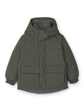 Liewood paloma puffer jacket hunter green multi mix