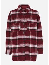 Designer Remix Girls jayden shirt coat red check