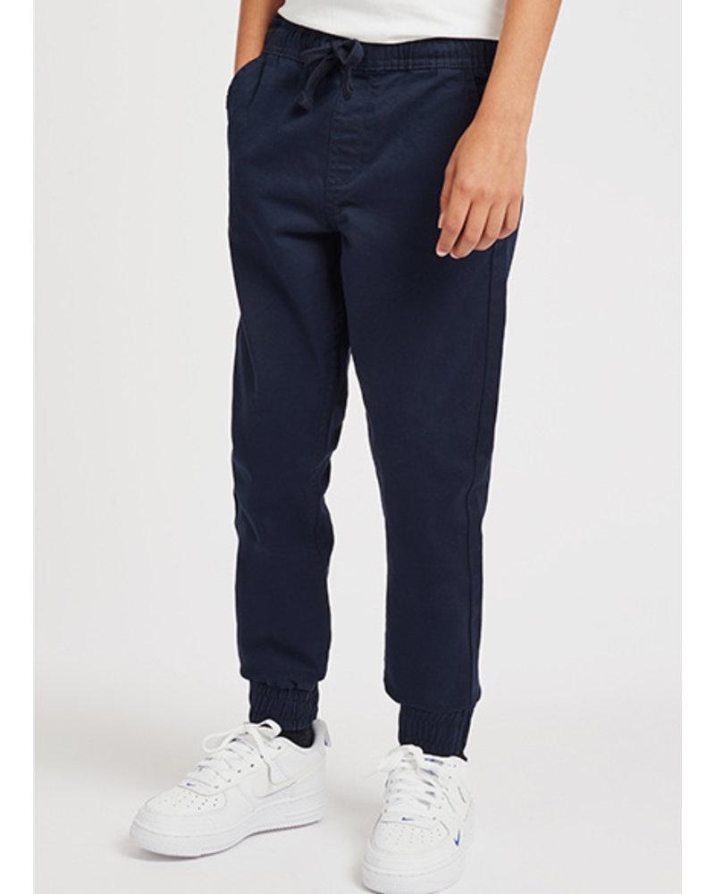 Lyle & Scott elasticated cotton trouser navy