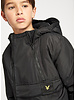 Lyle & Scott dual zip ripstop hooded jacket black