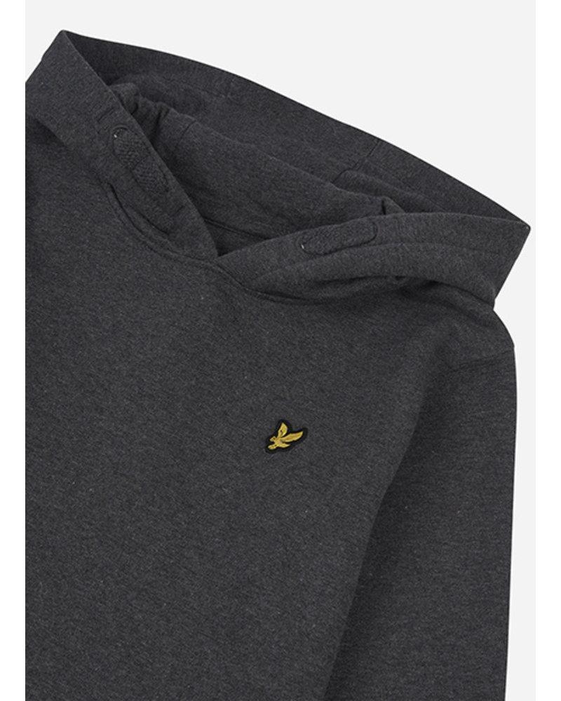 Lyle & Scott classic oth hoody fleece charcoal grey marl