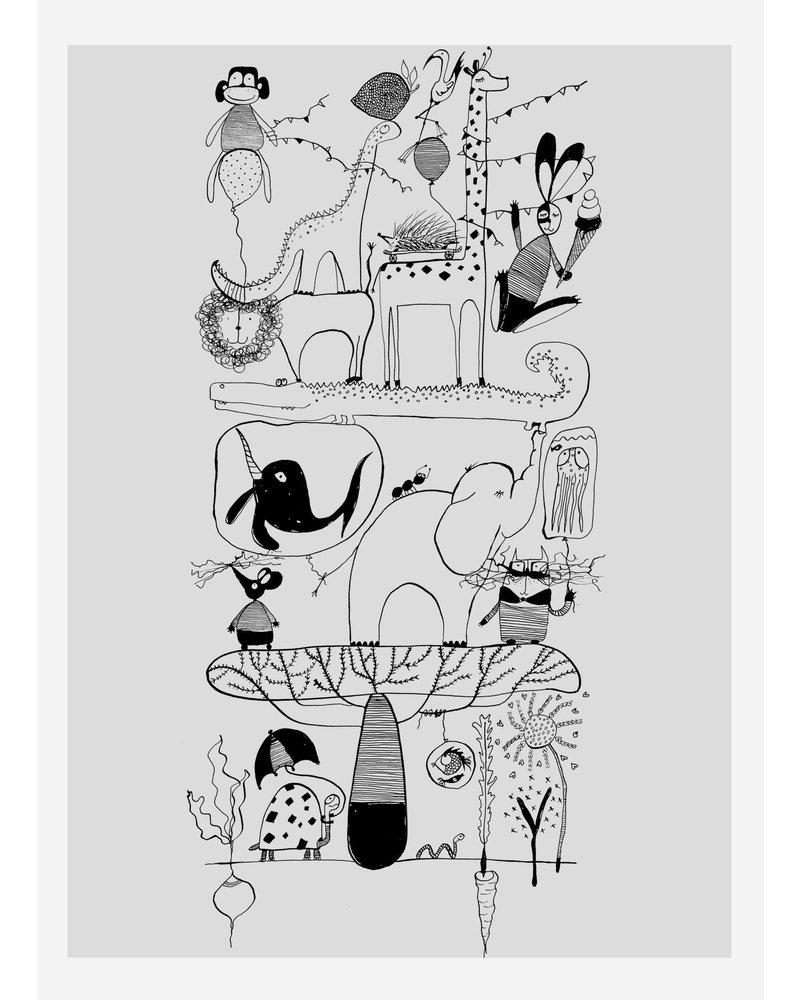 Pomme de Jus pomme poster alfabet