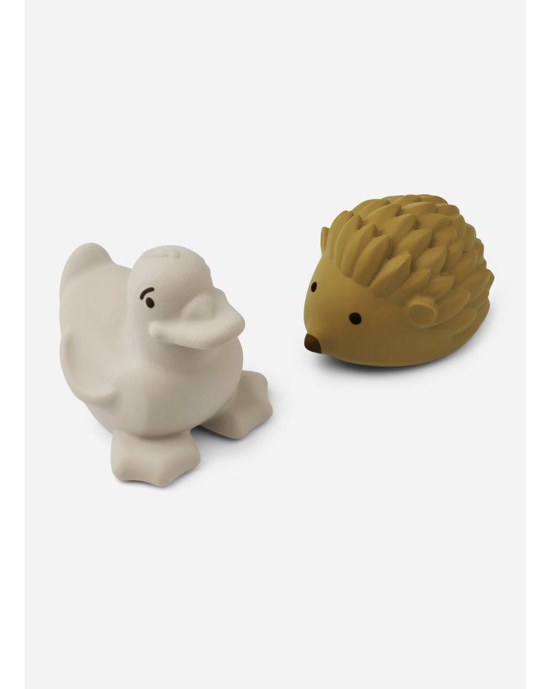 Liewood henrik bath toys 2-pack golden caramel sandy mix