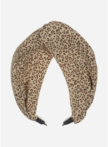 Mimi and Lula leopard extra wide alice band