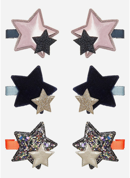 Mimi and Lula mini layered star clips
