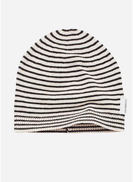 Mingo knit beanie monochrome stripes