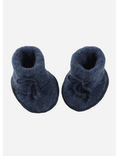 Engel Natur baby bootees - blue melange