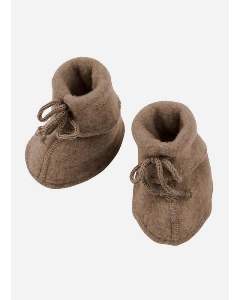 Engel Natur baby bootees - walnuss melange