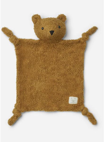 Liewood lotte cuddle cloth  mr bear golden caramel