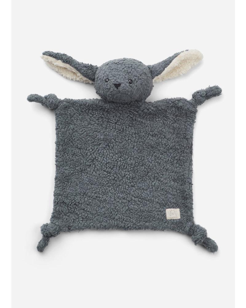 Liewood lotte cuddle cloth rabbit whale blue