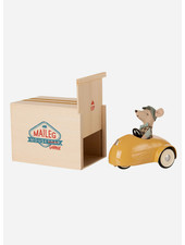 Maileg yellow car with garage - little brother mouse