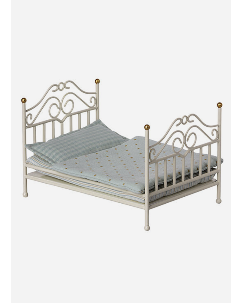 Maileg vintage bed off white - mouse