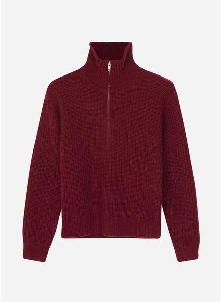 Designer Remix Girls carmen knit red