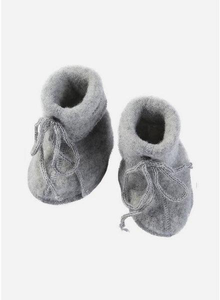 Engel Natur baby bootees - light grey melange