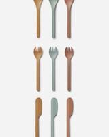 Liewood ryan cutlery set mustard multi mix