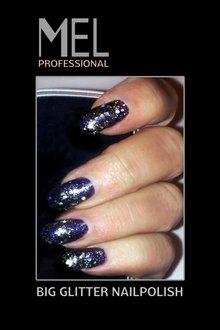 MEL Professional GLITTER BLAUW nr 104