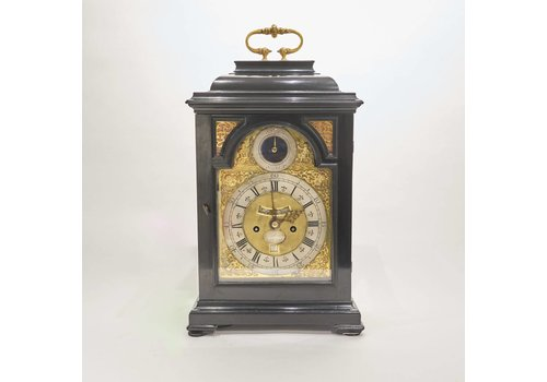 George I Ebonised Bracket Clock